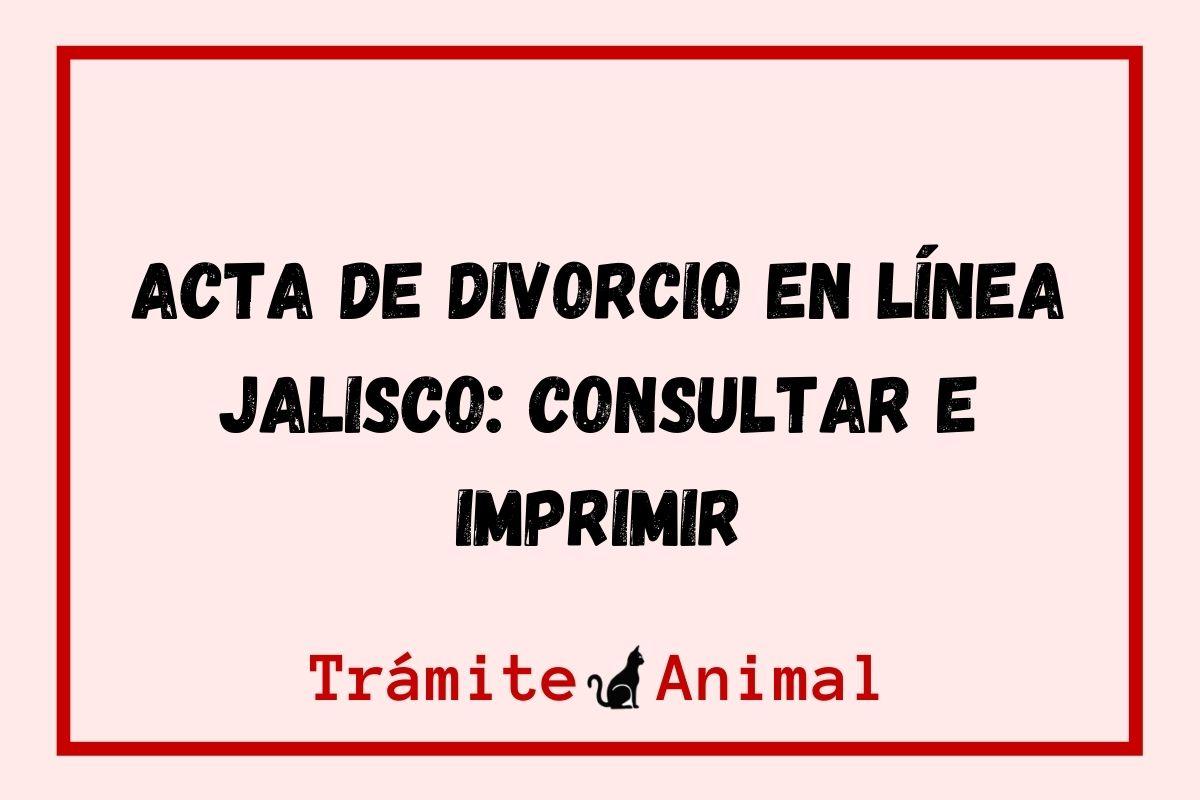 Acta de divorcio en Línea Jalisco