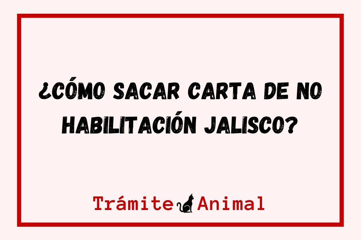 Carta de no habilitación Jalisco