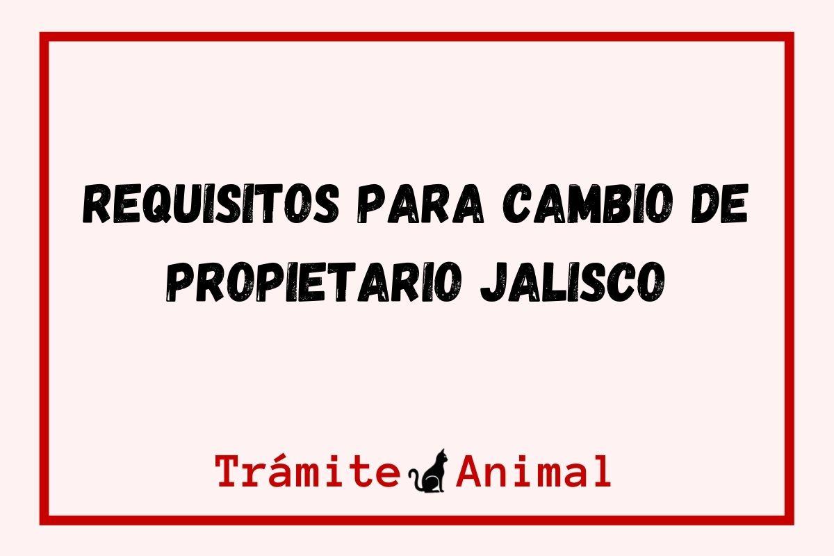 Requisitos para cambio de Propietario Jalisco