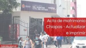 Acta de matrimonio Chiapas