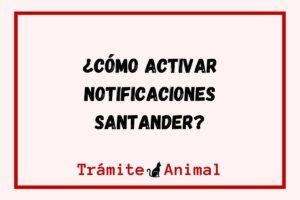 ¿Cómo activar notificaciones santander?