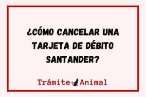 ¿Cómo cancelar una tarjeta de débito Santander?
