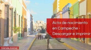 Descargar acta de nacimiento Campeche