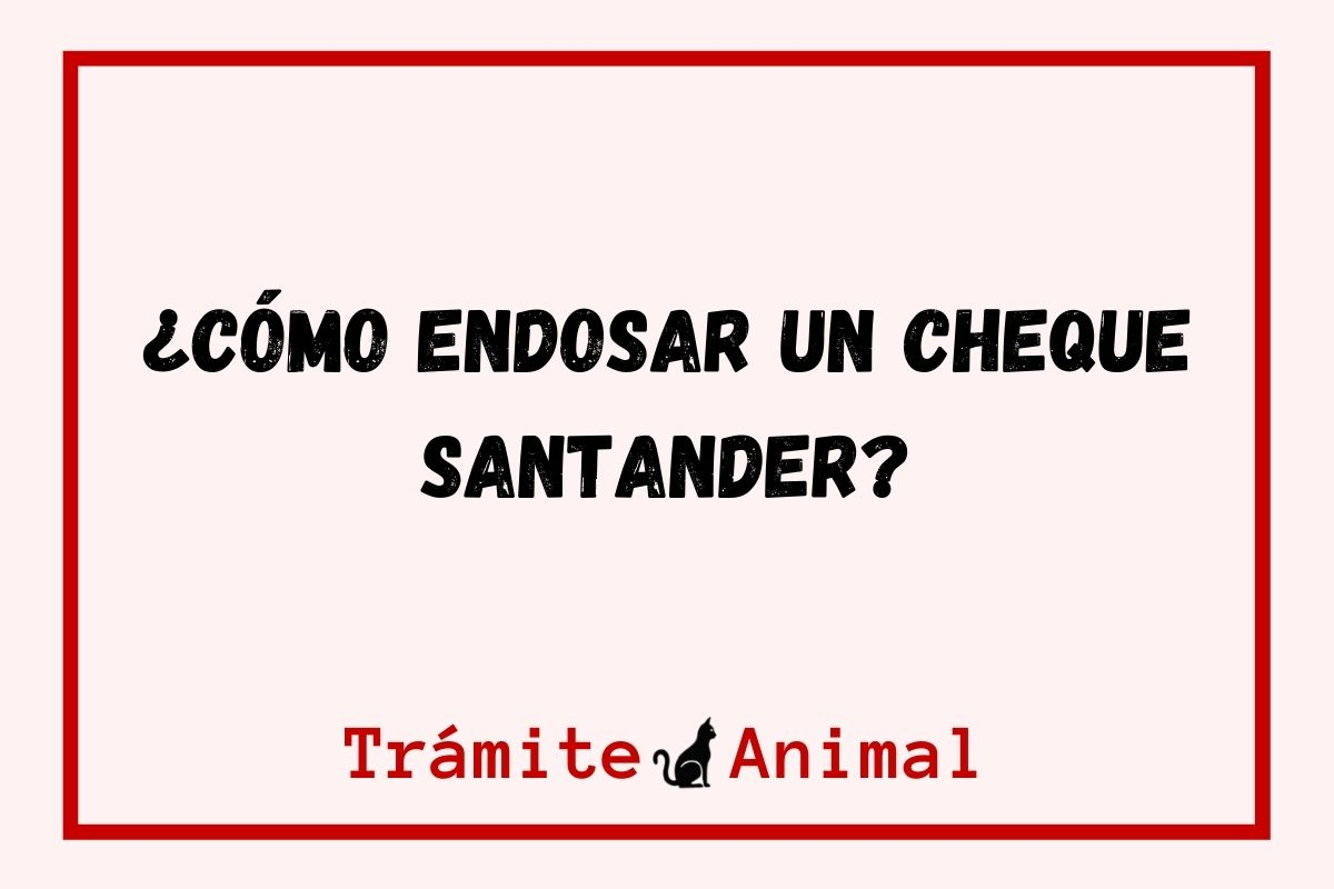 ¿Cómo endosar un cheque Santander?