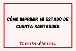 Cómo imprimir mi estado de cuenta Santander