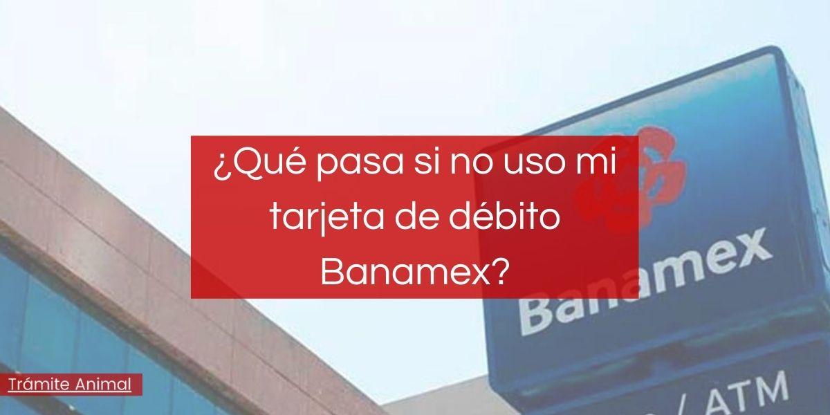 ¿Qué pasa si no uso mi tarjeta de débito Banamex?