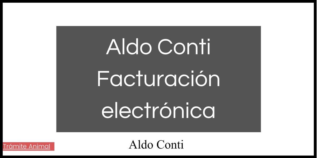 Aldo Conti facturación