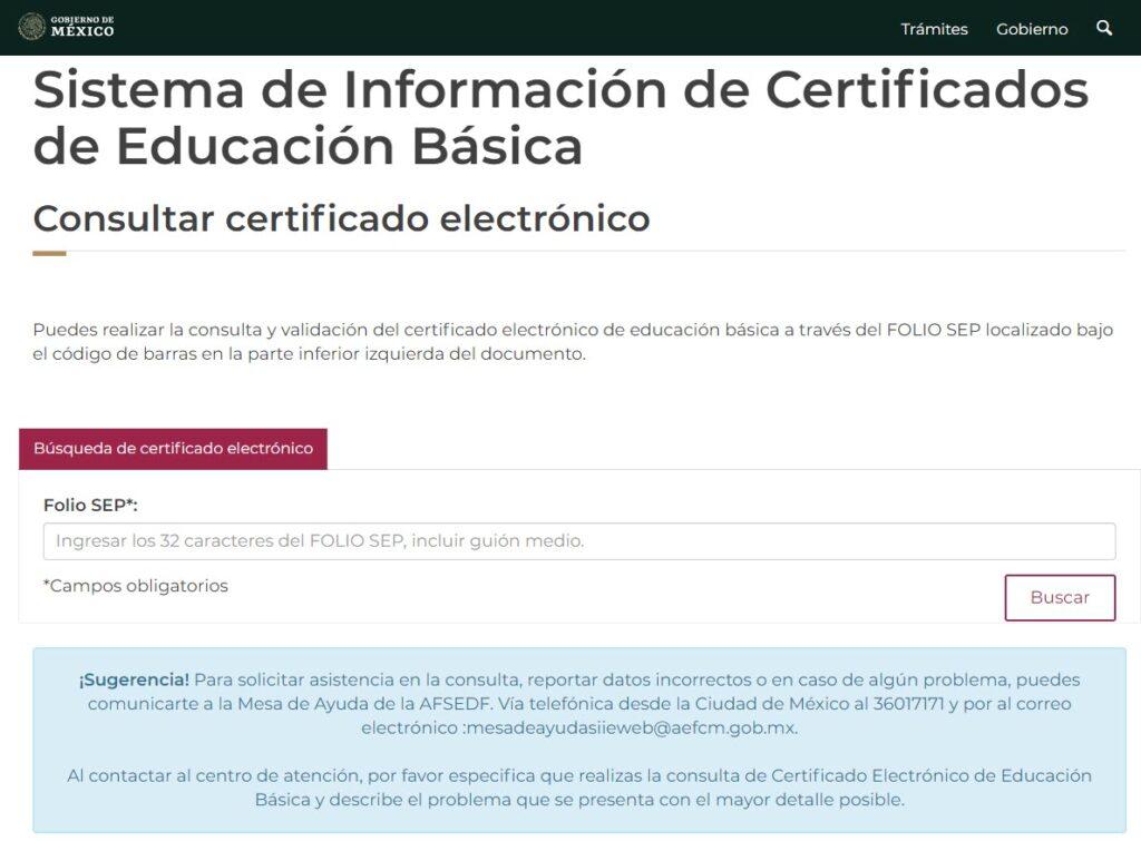 Cómo imprimir el certificado de secundaria SEP