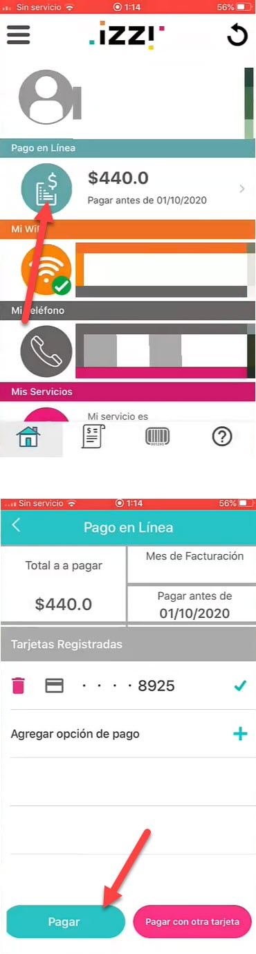 como hacer el pago de izzi en el celular