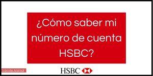 Cómo saber mi número de cuenta HSBC