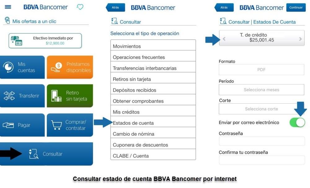 Cómo consultar estado de cuenta BBVA por internet