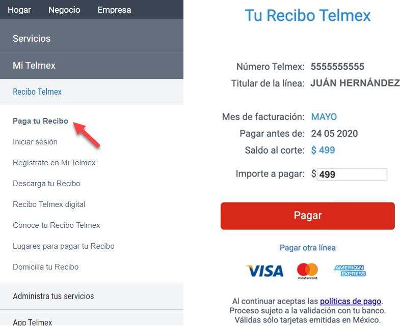 Cómo puedo pagar telmex en línea