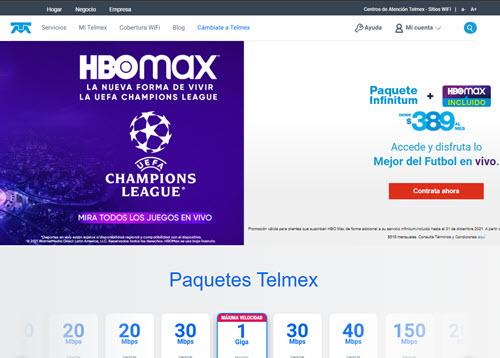 Página oficial de Telmex