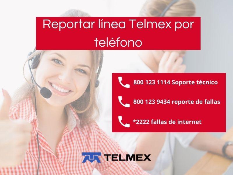 Cómo reportar línea Telmex por teléfono